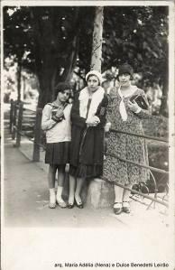 Nena Benedetti, Adelaide Nicolosi, Maria Crispim, Jardim da Luz, final da década de 1920.