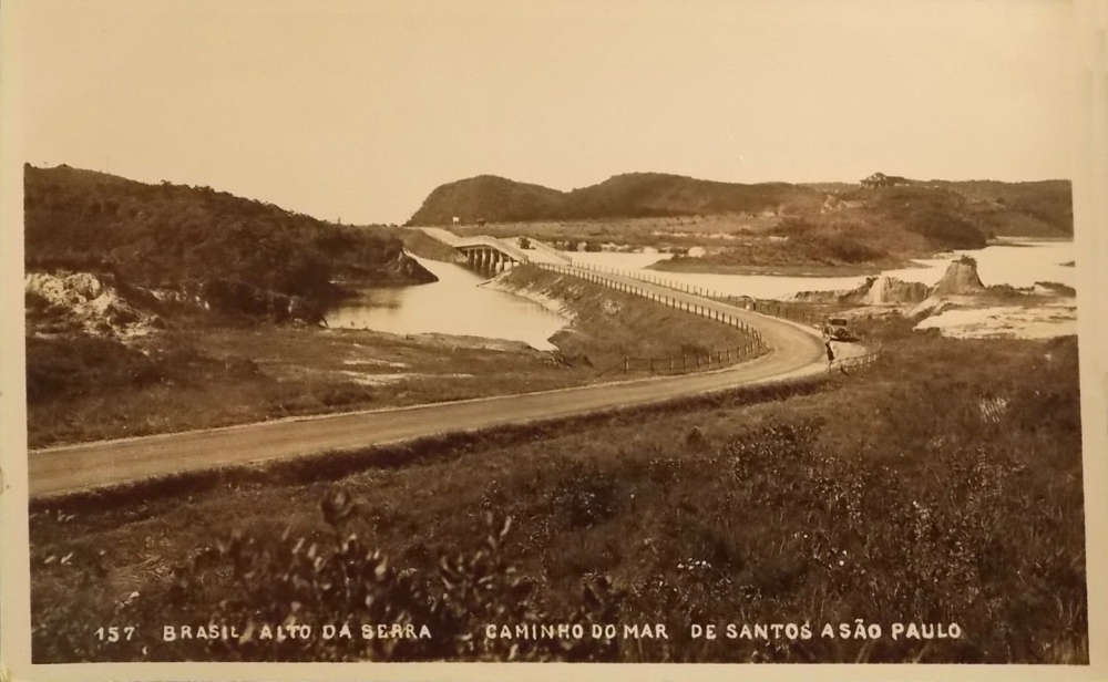 Trecho do Caminho do Mar no Alto da Serra, acredito que seja anos 1930.