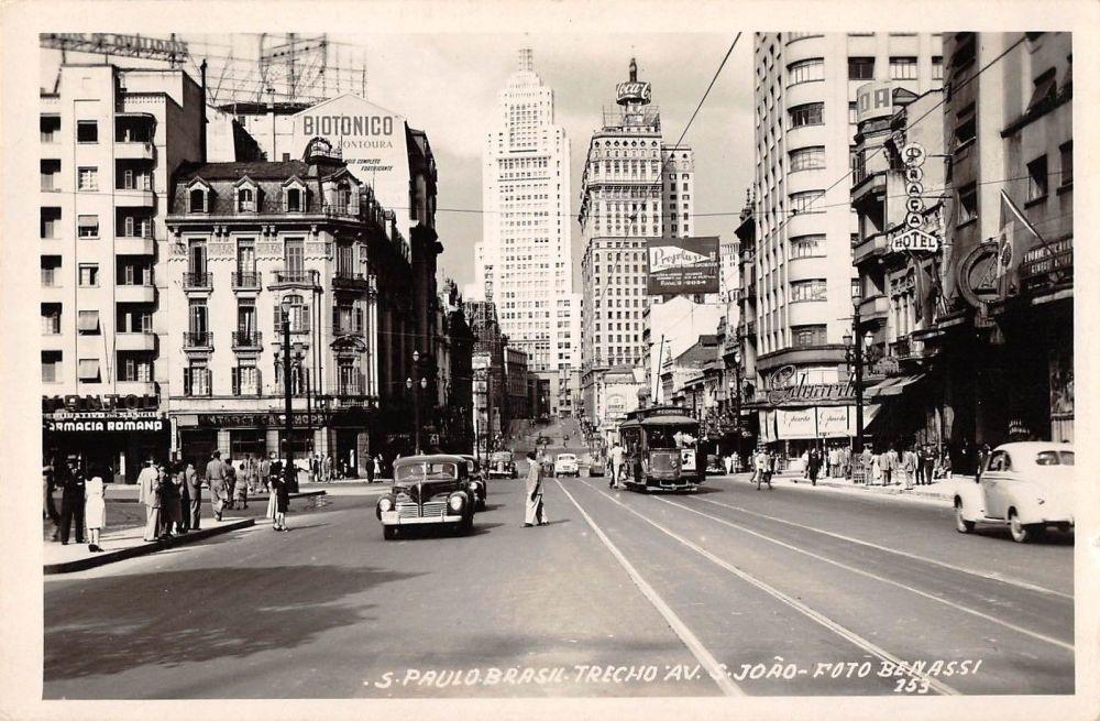 1950 - Avenida São João - Foto Benassi - Ebay