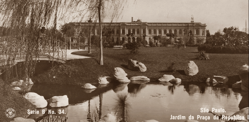 Série B n. 34 - Jardim da Praça da República II - Guilherme Gaensly - DCP