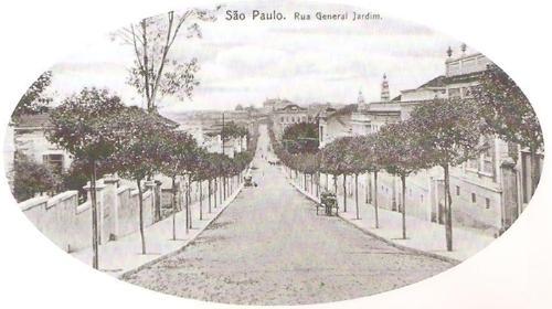 Rua General Jardim em postal do início do século XX. Acervo do blog Saudade Sampa.